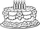 Раскраска открытка с днем рождения скачать бесплатно