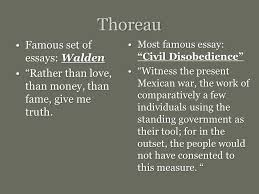 emerson thoreau and the advent of transcendentalism ppt video  7 thoreau famous set of essays walden ""