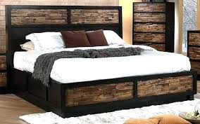 Cal King Bed Frame Outstanding Rustic Cal King Platform Storage Bed ...