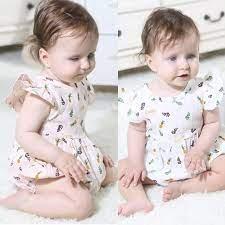 Bộ Áo Liền Quần Hoa Cho Bé Gái Sơ Sinh Dứa Bodysuits, Đồ Chống Nắng Thời  Trang Dễ Thương Quần Áo Mùa Hè Trẻ Em Cô Gái Outfits0-24M
