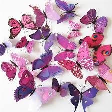<b>12 Pcs</b>/<b>Lot</b> PVC 3D Butterflies Wall Stickers Decoration Magnet ...
