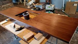 staining maple counter top
