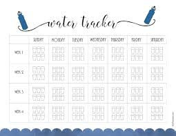 Water Intake Chart