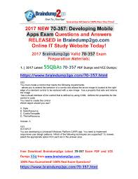 Design Patterns Exam Questions And Answers 2017 Sep Version Latest 70 357 Vce Dumps 55q As Free Offer