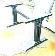 unfinished table legs canada desk metal kitchen trestle des
