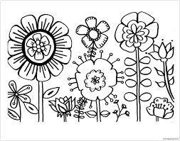 The butterfly is out to collect the flowers for her yearly spring this was our compilation of free printable spring coloring pages for you! Spring Flowers 3 Coloring Page Free Coloring Pages Online