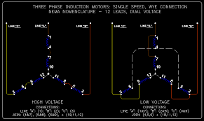 3 phase delta motor connection diagram images three phase motor lead motors wiring diagrams 12 automotive diagram