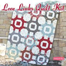 41 best 3 Sisters images on Pinterest | Jellyroll quilts, Big ... & Love Links Quilt Kit Featuring Etchings by 3 Sisters - Fat Quarter Shop Adamdwight.com