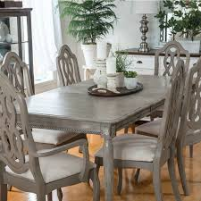 image of distressed dining table grey