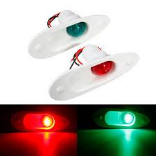 Red Side Light On Boat Pair 12v Red Green Led Navigation Signal Side Lights For Marine Boat Flush Mount