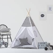 Monochrome Kids Teepee Tent Set With Window By Grattify .