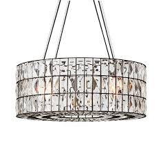 adeline crystal chandelier pottery barn regarding crystal drum chandelier plan decoration cassiel