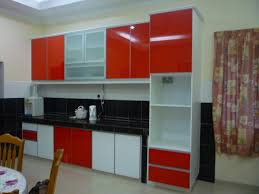 Red And White Kitchens Kitchen Inspiring Red Cabinets In Kitchen Decorating Ideas