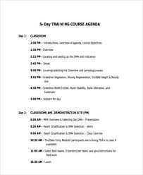 Training Agenda Class Agendas Barca Fontanacountryinn Com