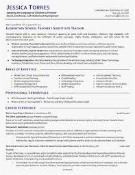 Resume Examples High School Example Substitute Teacher Resume