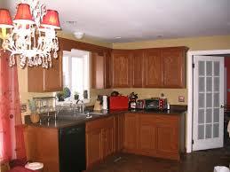 Oak Floors In Kitchen Modern Oak Cabinets With Dark Wood Floors Matching Kitchen