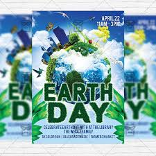 Earth Day Premium Flyer Template Facebook Cover