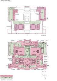 old parliament house upper and main floor plan showing the zones and their level of sensitivity