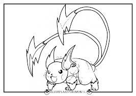 Pokemon Kleurplaten Raichu