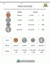 Kids. math practice for 1st grade free: Math Money Worksheets St ...
