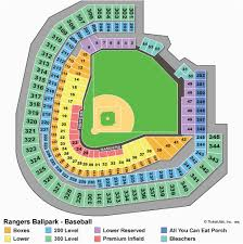 Texas Rangers Seating Chart With Seat Numbers Texas Rangers Ballpark Seating Map Secretmuseum