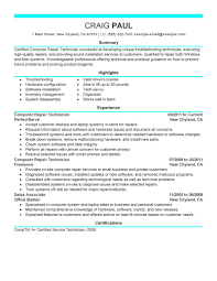 best computer repair technician resume example livecareer create my resume