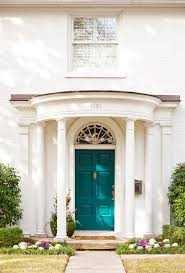 turquoise front doorPeacock decor ideas entry traditional with house numbers house