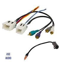 amazon com wire harness for aftermarket radio asc audio car stereo radio wire harness and antenna adapter to aftermarket radio for some infiniti