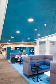 blue office walls.  office post office hq at finsbury dials heradesign acoustic ceiling panels were  installed using a concealed with blue walls b