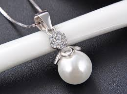 pendant 925 sterling silver pearl pendant