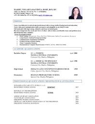 Resume Sample For Medical Laboratory Technologist Best Medical