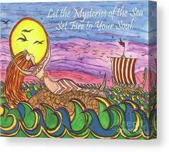 Viking Mermaid Canvas Print / Canvas Art by Leah Griffith
