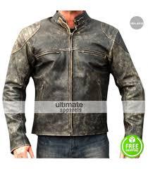 antique men s vine distressed retro motorcycle jacket