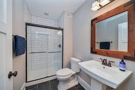 basement bathroom remodeling. Perfect Bathroom Basement Hall Guest Bathroom Remodel Wheaton  Sebring Design Build Intended Remodeling