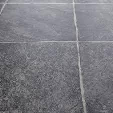 rhino classic basaltina carbon stone tile effect vinyl flooring kitchen bathroom