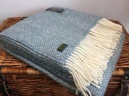 4 sur 12 tweedmill textiles orange grey herringbone pure wool throw blanket rug british