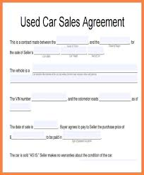 Car For Sale As Is Car Sale Agreement Word Doc Gtld World Congress