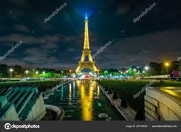 Eiffel Tower Light Show 2017 Jardins Du Trocadero Stock Editorial Photo Bennymarty