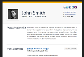 Resume Html Template Delectable HTML Resume Templates