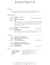 Internship Resume Objective Examples – Mmventures.co
