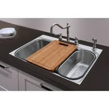 Shop American Standard 20Gauge SingleBasin DropIn Or Undermount Ideal Standard Kitchen Sinks