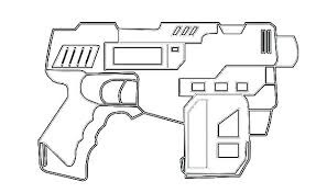 Nerf Gun Drawings Coloring Pages Coloring Pages Amazing Assault