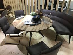 Dining room table bench Square View In Gallery Round Tables Homedit Versatile Dining Table Configurations With Bench Seating