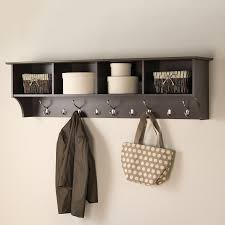 Wall Mounted Coat Rack With Hooks And Shelf Shop Coat Racks Stands at Lowes 1