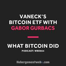 Vaneck has filings for both a bitcoin etf and ethereum etf. Vaneck S Gabor Gurbacs On Placing A Bitcoin Etf On The Market