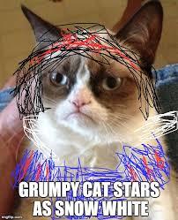 grumpy cat quotes frozen. Exellent Quotes Starsas Pocahontas Stars As Snow White With Grumpy Cat Quotes Frozen