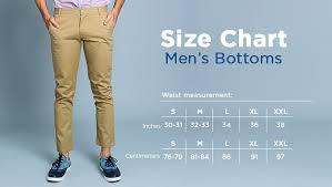 Mens Pants Xl Size Chart Mens Walking Shorts