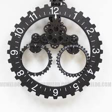 amazoncom modern contemporary mechanical gear wall clock with