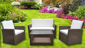 4 piece roma rattan furniture set
