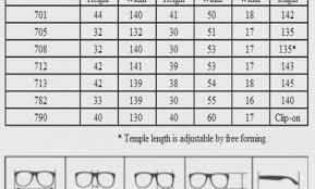Sunglasses Frame Size Chart Eyewear Frame Size Chart Foxytoon Co